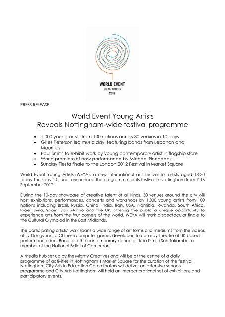 June Final - World Event Young Artists