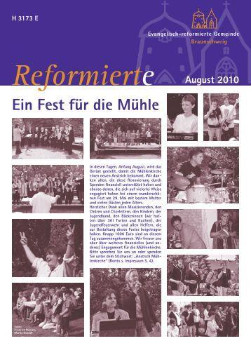 Gemeindeblatt August 2010 - Evangelisch-reformierte Gemeinde ...