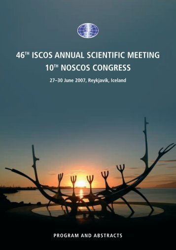 46th iscos annual scientific meeting 10th noscos ... - SpinalCord.CZ