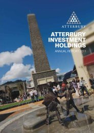 Annual Report 2011 - Atterbury Property Holdings