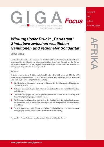 Pariastaat - GIGA German Institute of Global and Area Studies