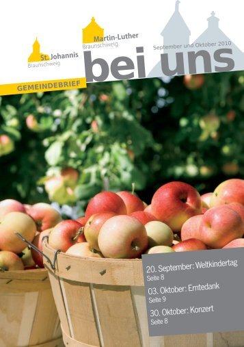 Gemeindebrief September-Oktober 2010 - in St. Johannis