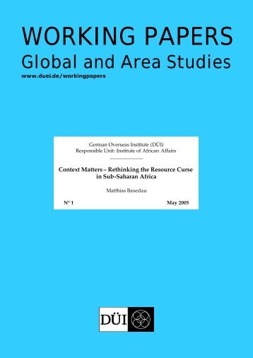 working papers - GIGA German Institute of Global and Area Studies