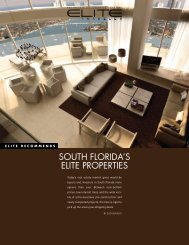 SOUTH FLORIDA'S ELITE PROPERTIES - Elite Traveler