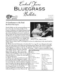 Bulletin - Central Texas Bluegrass Association