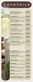 Speise - und Getränkekarte - Cafe 1685 - Seite 4
