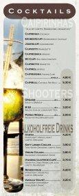 Speise - und Getränkekarte - Cafe 1685 - Seite 5