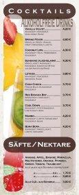 Speise - und Getränkekarte - Cafe 1685 - Seite 6