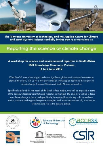 Monday, 4 June 2012 - Climate Change - CSIR