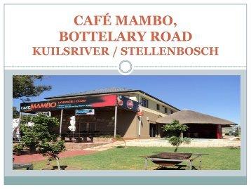 Venue Hire Brochure - Cafe Mambo