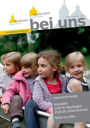 Gemeindebrief April-Mai 2010 - in St. Johannis