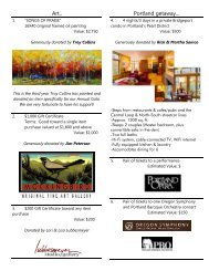 to view our silent auction items - High Desert Chamber Music