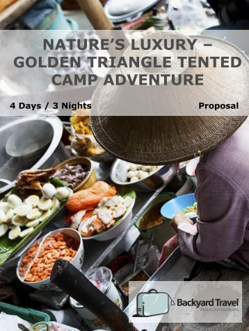 nature's luxury – golden triangle tented camp ... - Backyard Travel