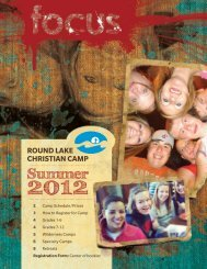 Summer Camp Book - Round Lake Christian Assembly
