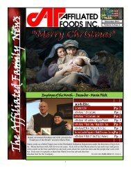 The Affiliated Family News - Affiliated Foods Inc.