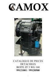 catalogue de pieces detachees boite zf 5 wg 160 ... - Camox