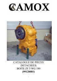 catalogue de pieces detachees boite zf 5 wg 190 (99120001) - Camox