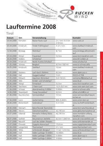 Lauftermine 2008