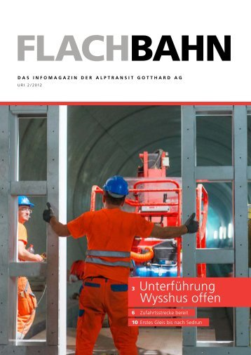 Flachbahn - Uri 2/2012 - AlpTransit Gotthard AG