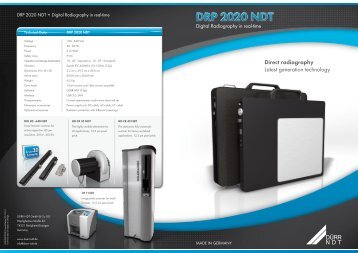 Direct radiography Latest generation technology - duerr-ndt.de