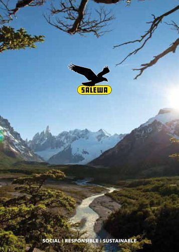 social | responsible | sustainable - Salewa