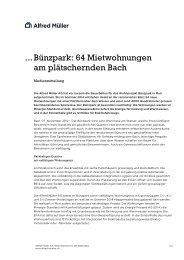 Bünzpark: 64 Mietwohnungen am plätschernden ... - Alfred Müller AG