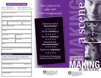 Making - College of Arts and Science - University of Saskatchewan
