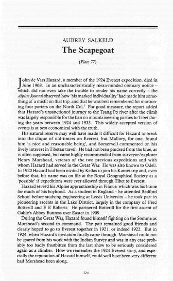 The Scapegoat - Alpine Journal