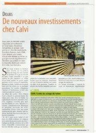 De nouveaux investissements chez Calvi - Camox