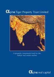 Alpha Tiger Property Trust - admission document - Alpha Real Trust