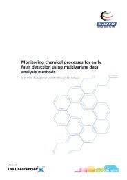 Monitoring chemical processes for early fault detection using ... - Camo