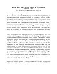 Scottish, English, British, European Identities: A Literature Review
