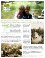 Nerheim Family Enjoys Pere Marquette River for Over - Land ...