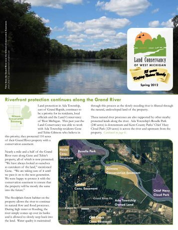 Spring 2012 Newsletter - Land Conservancy of West Michigan