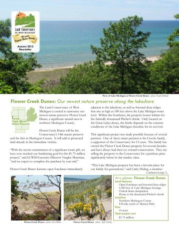 Fall 2012 Newsletter - Land Conservancy of West Michigan
