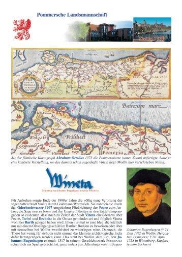 Vineta/Wollin - Pommersche Landsmannschaft