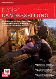 """""""15 minuten mit lr pupp""""jeden mittwoch - Die Tiroler Landeszeitung"""