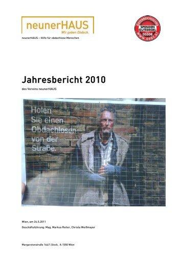 Jahresbericht 2010 - neunerHAUS