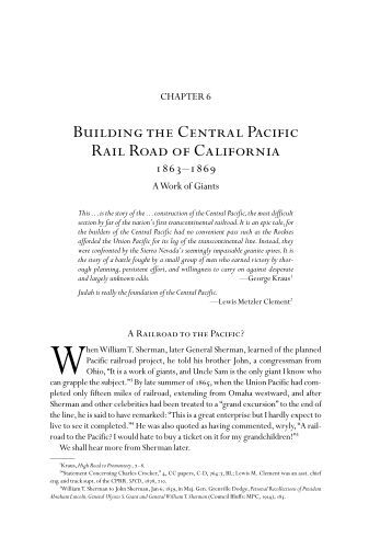 Building the Central Pacific Rail Road of California