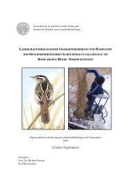 Cosima Tegetmeyer - Institut für Botanik und Landschaftsökologie ...