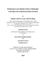 pomegranate production under bio and organic fertilization system