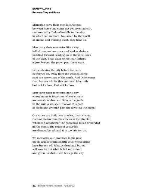 Museum Pieces - Beloit Poetry Journal
