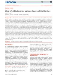 Male infertility in cancer patients: Review of the literature