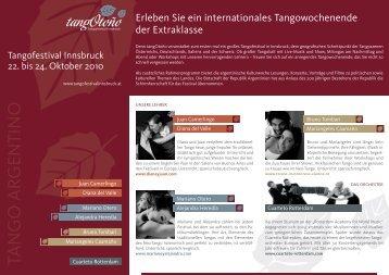 TANGO ARGENTINO - Tangofestival Innsbruck