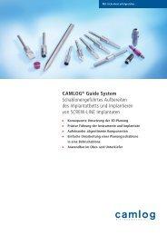 CAMLOG® Guide System Schablonengeführtes Aufbereiten des ...