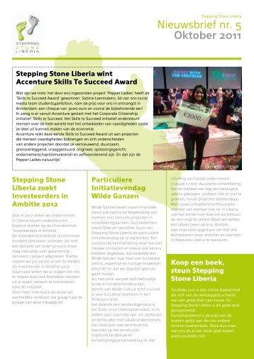 Nieuwsbrief nr. 5 Oktober 2011 - Stepping Stone Liberia