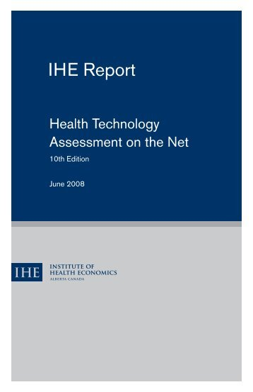 IHE Report - Institute of Health Economics