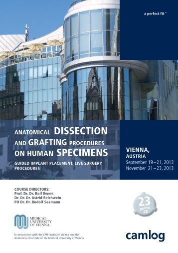 Anatomical Dissection and Grafting Procedures - Camlog