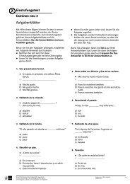 Einstufungstest Caminos neu 2 Aufgabenblätter
