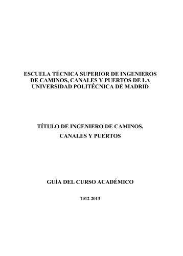 Ingeniero de Caminos - ETSI Caminos Canales y Puertos ...